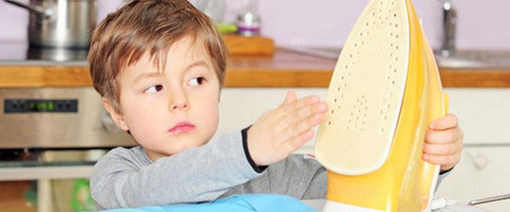 Чем помазать ожог утюгом ребенку в домашних